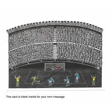 """Goal!"" Linocut by Hugh Ribbans"