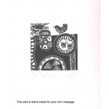 """""""Tea Time"""" wood engraving by Linda Farquharson"""