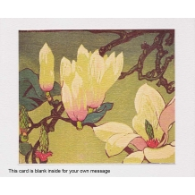 """Magnolia"" woodcut by Mabel Royds"
