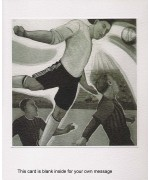 """Football angel"" Etching by Sandra Millar"