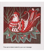 """Hen"" relief print by Sarah Young"