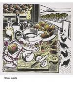 """Kitchen Doorway"" card by Clare Melinsky"
