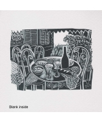"""Cafe Table"" Card from a Wood engraving by John O'Connor"
