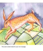 """Leaping Hare"" card by Kate Green"