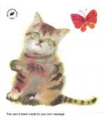 """""""Kitten & Butterfly"""" card by Chinatsu Sunaga"""