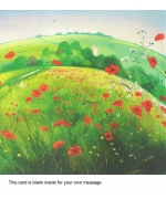 """A Field of Poppies"" card by Nicholas Hely Hutchinson"