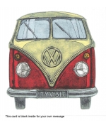 """VW Camper Van"" card by Barry Goodman"