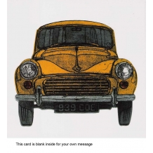 """Morris Minor"" card by Barry Goodman"