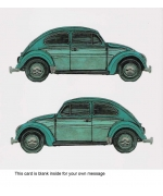 """VW Beetle"" card by Barry Goodman"