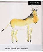"""Donkey"" Greeting card by Rachel Tudor Best"