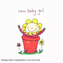 """New baby girl"" card by Josie Sullens"