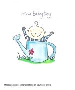 """New baby boy"" card by Josie Sullens"