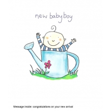 """New baby boy"" card by Josie Sullens"