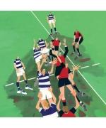 """""""Rugby"""" card by Debbie Ryder"""