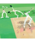 """Cricket"" card by Debbie Ryder"