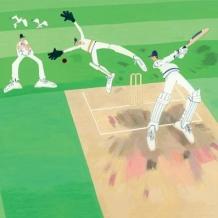 """Cricket"" card by Debbie Ryder"