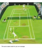 """""""Tennis"""" card by Debbie Ryder"""