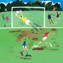 """Football"" card by Debbie Ryder"