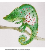 """Chameleon"" greeting card by Becky Brown"