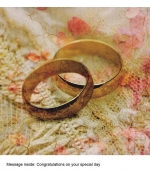 """Wedding Rings"" card by Marion McConaghie"