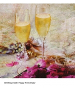 """Anniversary Toast"" card by Marion McConaghie"