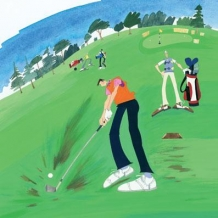 """Golf"" card by Debbie Ryder"