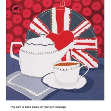 """Pot of tea"" card by Louise Cunningham"