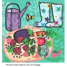 """Green Fingers"" card by Sandra Krumins"""