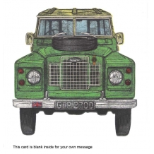 """Land Rover"" card by Barry Goodman"
