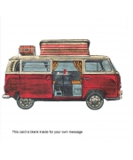 """Volkswagen Type 2 'Camper Van'""  card by Barry Goodman"