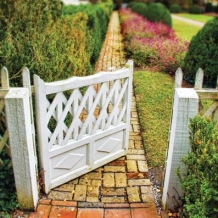 """Garden gate"" card by Jill Battaglia"