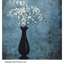 """""""White Flowers"""" Sympathy card by Colleen Farrell"""
