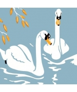 """Two Swans"" Greeting card"
