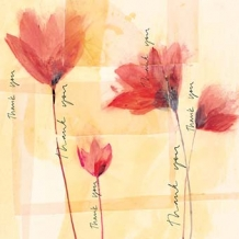 """Poppies"". Thank you card by Sophie Jordan"
