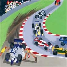 """Motor Sport"". Card by Debbie Ryder"
