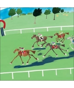 """Horse Racing"" Card by Debbie Ryder"