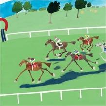 """Horse Racing"" Card by Debbie Ryder"
