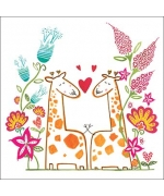 """Happy Garden Giraffes"" card by Helen Lang"
