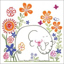 """Happy Garden Elephant"" card by Helen Lang"