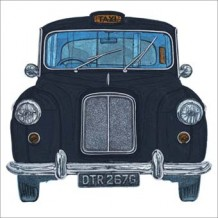 """Black Cab"" card by Barry Goodman"