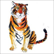 """Tiger Tiger"". Card by Becky Brown"