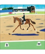 """Dressage"". Greeting card by Debbie Ryder"