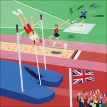 """Athletics"". Card by Debbie Ryder"
