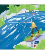 """Fly Fishing"". Card by Debbie Ryder"