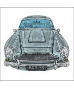 """Aston Martin DB5"" card by Barry Goodman"