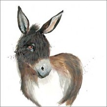 """Donkey"" Greeting card by Becky Brown"