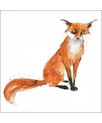 """Mr Fox"" card by Becky Brown"