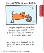 """The Kitten Of Your Life"" Card by Edward Monkton"