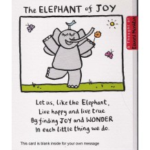 """The Elephant of Joy"" Card by Edward Monkton"