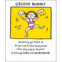 """Groove Bunny"" Card by Edward Monkton"